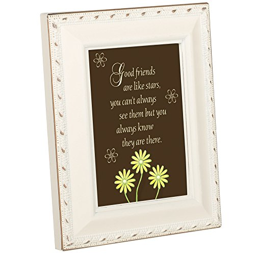 Cottage Garden good Friends Are Like Stars elfenbein gold Seil Rand kleinen 2 x 3 PLAQUE -