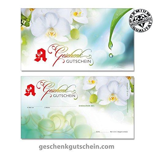 Hochwertige Gutscheinkarten Geschenkgutscheine für Ihr Unternehmen Vorderseite hochglänzend für deutsche Apotheken AP1232, LIEFERZEIT 2 bis 4 Werktage!