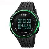 amstt Hombre Multi Función Impermeable electrónica Relojes Relojes Montañismo y deportes de exterior de LED de estudiantes ver reloj verde