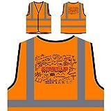 Éxito de inicio de negocios de finanzas Chaqueta de seguridad naranja personalizado de alta visibilidad e326vo