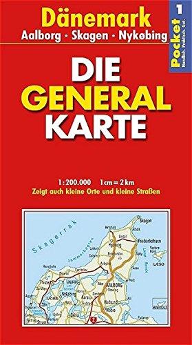 Generalkarte Dänemark 1. Aalborg, Skagen, Nykobing 1: 200 000. par Pascal Szymezak