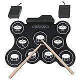 Tragbare Trommel E-Drum Set Faltbare Trommel-Übungsmatte Mit Drumstick Digitale Musik-Pad-Musikinstrument Für Anfänger