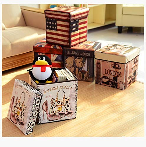 FunBlast Multi-Functional Folding Storage Ottoman Box Organizer Cum Stool with Seat Cushion, Storage Boxes for Toys for Kids - Unicorn - Random Color Dispatch - 1 Pcs Brand: FunBlast