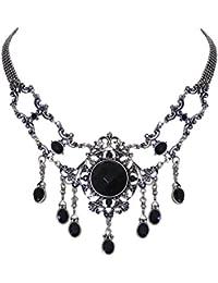 Trachtenschmuck Collier Crystal Klar Antikschmuck Replikat Kette Gothic Kette