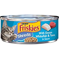 Purina Friskies Savory Shreds Whitefish & Tuna Wet Cat Food (24 Cans)