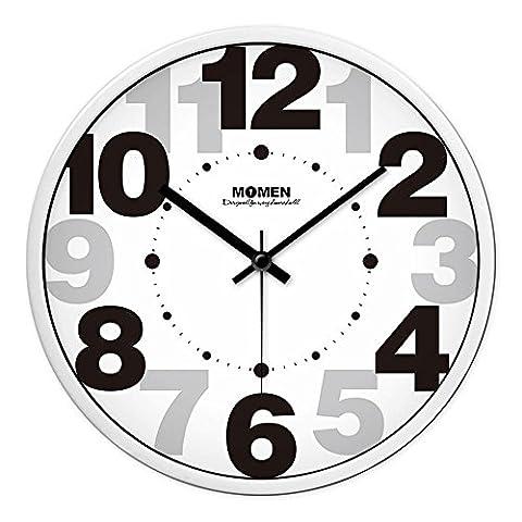 JJD Stylish Garden Wall ClockThe Living Room Creative ClocksThe Bedrooms Are Modern Mute ClockThe Wall Chart Quartz Clock,Black Box