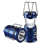 ZLI Lampe de Camping Rechargeable à 6 Del, Lanterne Solaire Pliante Lampe de Tente de Voyage pour Voyage d'urgence, pêche, coupures de Courant et Plus