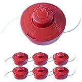 Nemaxx draadspoel met automatisch indrukken dubbele draadkop draadkop maaikop nylon snoerrol grasmaaier toebehoren reservespo