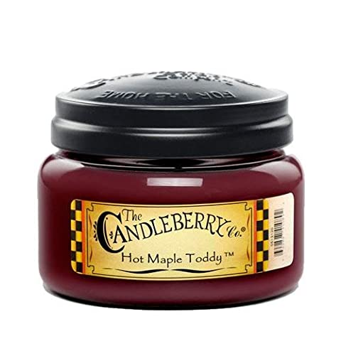 Candleberry Hot Maple Toddy Fragranced 10oz. Jar Candle