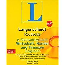 Langenscheidt Routledge e-Fachwörterbuch Wirtschaft, Handel und Finanzen Englisch. CD-ROM