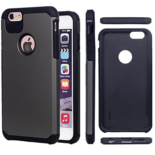 KIO LG K7 Custodia – [Antigraffio Antiscivolo] Heavy Duty protezione Custodia Morbido in gomma & Hard PC Cover flessibile Shock Absorption ammortizzatori per LG K7 iPhone 5/iPhone 5S/iPhone SE P-4 P-3