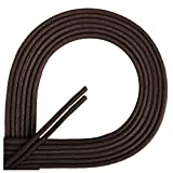 Di Ficchiano Lacets ciré ronds premium Ø 2–3mm, longueur 45–120cm, indéchirable 90 cm marron foncé
