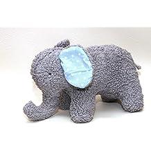 Elefant Kuscheltier aus Bio Baumwoll Plüsch und Baumwolle, handgemacht, Personalisierbar mit Namen,, handgemacht in Deutschland