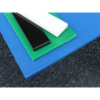 Panel 1000 x 495 x 8 mm High-Density Polyethylene Blank Cut Black
