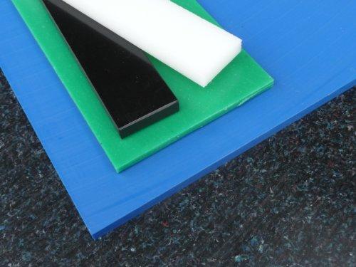 Platte aus PE-HD, 1000 x 495 x 10 mm schwarz Zuschnitt PE alt-intech®