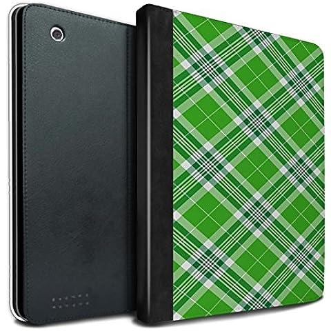 STUFF4 PU Pelle Custodia/Cover/Caso Libro per Apple iPad 2/3/4 tablet / Verde / Tartan Picnic (Designer Di Accessori Per Picnic)