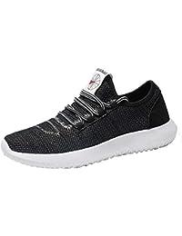Tefamore Zapatillas Running para Hombre Aire Libre y Deporte Transpirables Casual Zapatos Gimnasio Correr Trail Fitness Sneakers 39-46