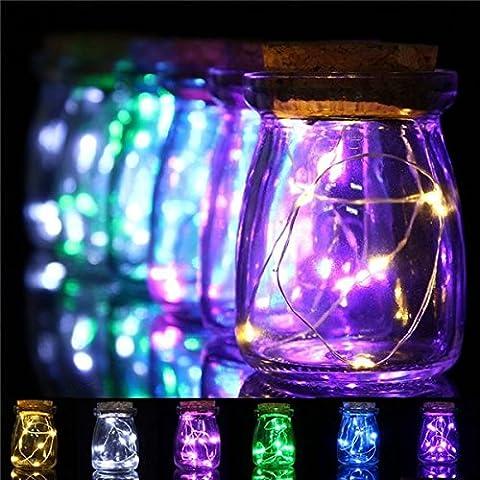 Bazaar Navidad románticas 10 LED colores luces florero semillas luces de hadas de la pieza central de la boda