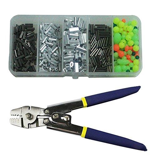 Draht Leader Seil Hand Crimpzange Werkzeug Set für Kupfer und Aluminium Oval Ärmeln und Stop Ärmel von 0,1mm bis 2,2mm