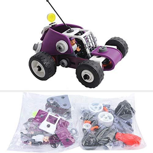 Zerodis Montage Auto Blöcke 4 in 1 Kinder DIY Montage Bausteine   Modell Engineering Auto Frühe Pädagogische Stapeln Spielzeug Intelligenz STEM Geschenk für Kinder