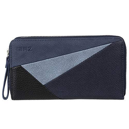 Zwei Cherie CH2 Reißverschluss Geldbörse Portemonnaie Geldbeutel Brieftasche Portmonee, Farbe:Canvas Night