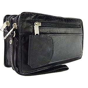 ekavale® elegante Dokumententasche Handgelenk-Herrentasche aus hochwertig verarbeitetem Leder mit praktische…