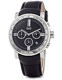 D&G Dolce&Gabbana Herren-Armbanduhr GENTEEL CHR MAN SS CASE BLACK DIAL BLACK CROCO DW0486