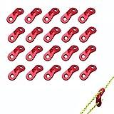 aveson 20Stück Aluminium Spannseil Cord Wind Rope Einstellknopf für Zelt