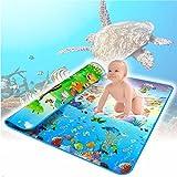 EMOTREE 200x180cm Kinder Baby Spieldecke Krabbeldecke Spielmatte Spielteppich Tier + Ozean