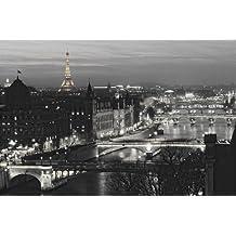 Grande affiche Paris River view Eiffel tower - la Tour Eiffel PAPIER Poster Dimensions 91.5 x 61cm (36x24inch) environ