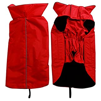 JoyDaog Fleece Lined Warm Dog Jacket for Winter Outdoor Waterproof Reflective Dog Coat Black XS 7