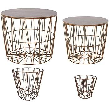 4 Design-Drahtkörbe, Wahlweise in den Farben, Braun, Grau