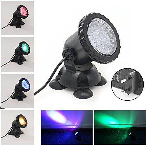 Xcellent Global Foco de 3.5W 36 LED sumergible para acuarios que cambia de color Punto de luz para el jardín , estanque de peces, tanque, fuente de rocalla M-LD104