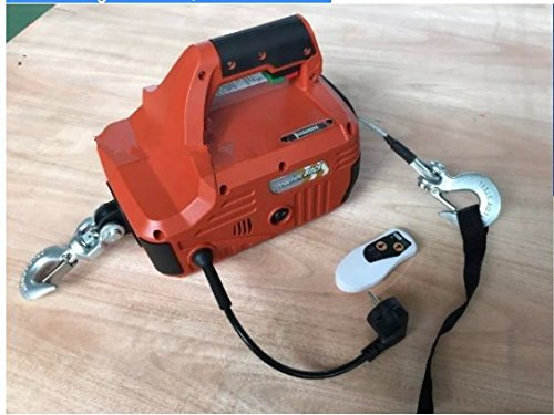 Gowe 450kilogram/450kgx4.6m Portable Treuil électrique avec télécommande sans fil Treuil manuel Bloc de traction électrique en fil d'acier Corde Palan Treuil