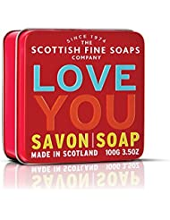 """SOAP in a tin of Scottish fine soaps - """"Love You"""" 100 g"""