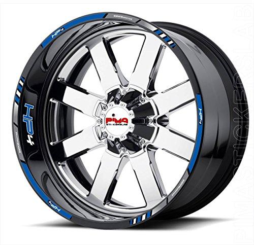 Adesivi stickers cerchi moto filetti strisce ruote bordo cerchione BMW HP4 (kit 1) completo 4 lati ruote Cod.0724