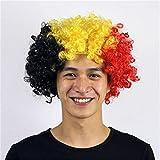 HanSmart Weltmeisterschaft2018 Deutschland Flagge Farbe Perücke Fußball Fußballfans National Deutschland Flagge Afro Haar Cosplay Party-Zubehör