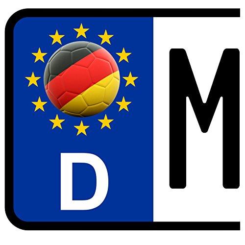 3 x Kennzeichen-Aufkleber Ball DEUTSCHLAND Flagge KFZ Motorrad FanShirts4u GERMANY