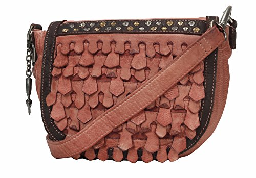 Billy the Kid Reptile Borsa a tracolla pelle 28 cm Rosewood