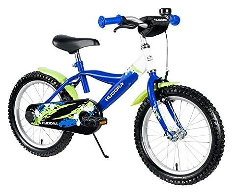 HUDORA Kinder-Fahrrad, 12 Zoll, mit Stützrädern, blau grün, 10540