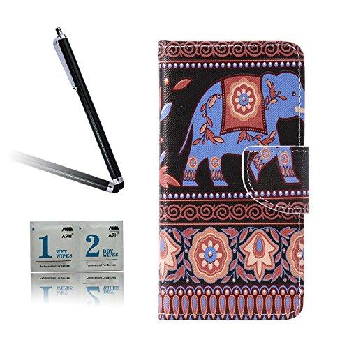 ARTLU® BQ Aquarius M5.0 Taschen Schalen PU Leder Tasche Schutzhülle Hülle Handy Etui Schale mit Ständerfunktion und Kreditkartenfächer für BQ Aquaris M5 (5.0 inches)A10