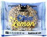 Kookie Cat Chia and lemon, Organic vegan cachew/oat cookie, 12er Pack (12 x 0.05 kg)
