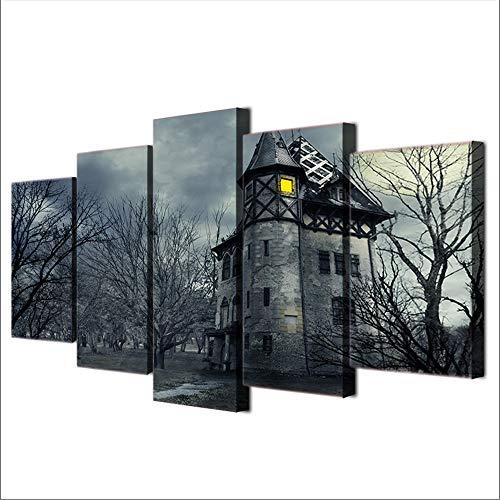 Xzfddn Wandkunst Moderne Rahmen Für Malerei Modulare Günstige Bilder 5 Panel Haus Für Wohnzimmer Wohnkultur Kunstwerk Leinwand-30X40/60/80Cm,With Frame