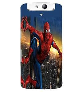 ColourCraft Superhero Design Back Case Cover for OPPO N1