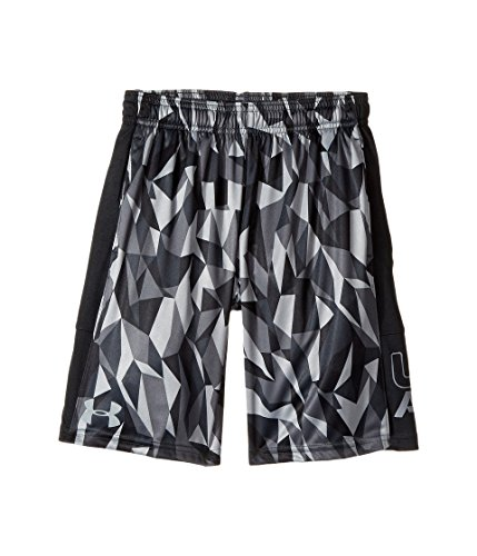 Under Armour Damen UA Stunt Printed Short Kurze Hose, Black, YMD