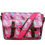 Miss LuLu Wachstuch Tasche Umhängetasche Schultasche mit vielen Drucken in vielen Farben (CT-PK)