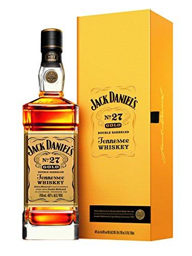 Jack Daniel\'s No. 27 Gold - Tennessee Whiskey - 40{81b8f1713f0aa5915d9b6709c5b58bd53df9b70735d5dff01c5eb210b488ce3a} Vol. (1 x 0.7 l)/Zweifach gelagert, zweifach holzkohlegefiltert. Weltweit einmalig.