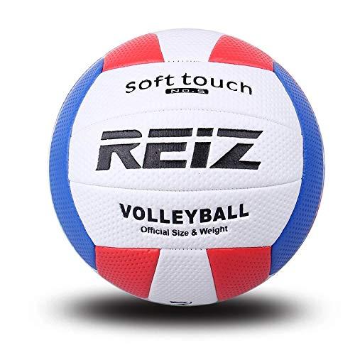 Yaoaomon Reiz Volleyball Ball Indoor Outdoor Wettbewerb Trainingsball Männer Frauen Offizielle Größe Gewicht Soft Touch Volleyball Ball - weiß & rot & blau