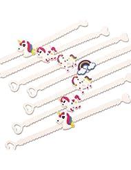 Unicorn pulseras, pyhot niños pulsera de goma de PVC para niños de cumpleaños Navidad regalo de recuerdo de la fiesta Suministros
