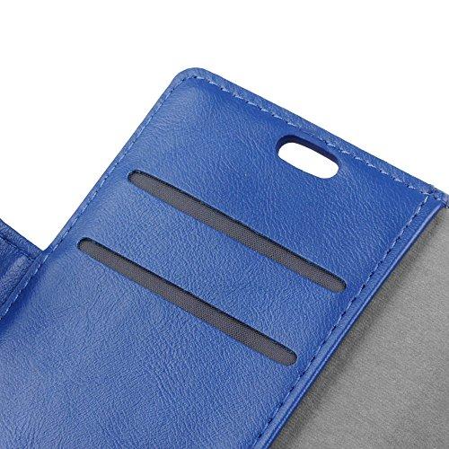 EKINHUI Case Cover Retro Art verrückte Pferdebeschaffenheit PU-lederner Mappen-Beutel-Kasten weiche TPU Abdeckung mit horizontalen Ki kstand u. Kartenschlitzen für iPhone X ( Color : Red ) Blue
